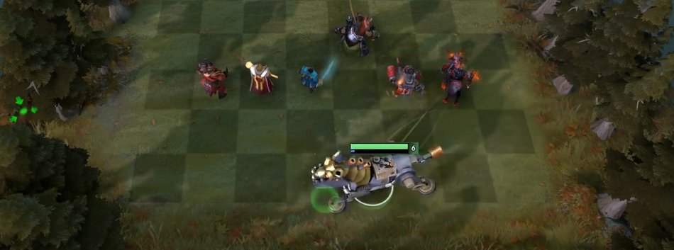 Auto Chess Positioning Straight Line