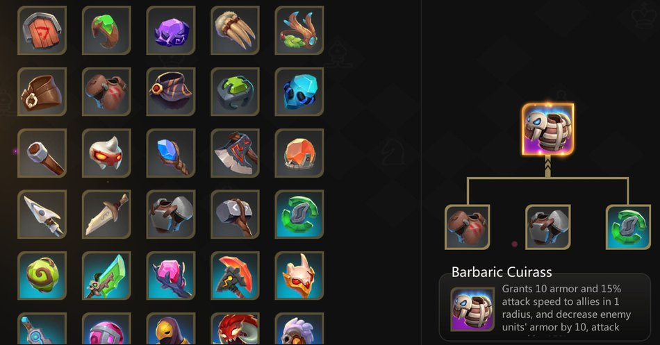 Auto CHess Mobile Items
