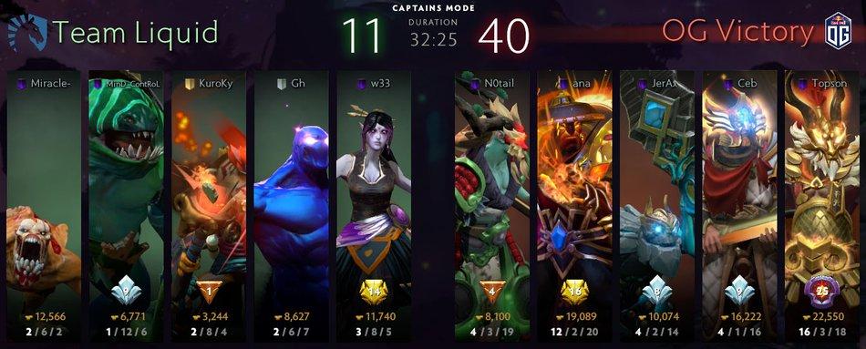 OG TI9 Game 2